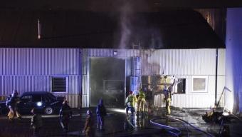 Brand i företagshotell i Svalöv