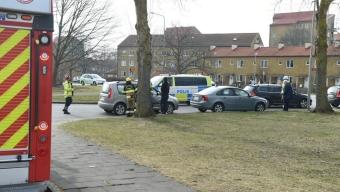 Mindre trafikolycka vid Bildeve