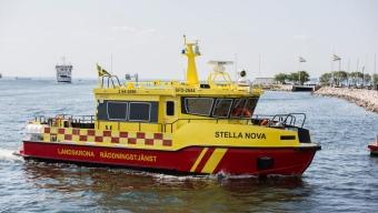 Den nya räddningsbåten, Stella Nova, kom till Landskrona