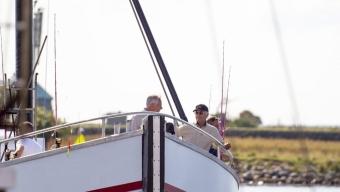Kungen på fisketur i Öresund