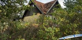 Gård avspärrad utanför Landskrona