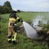 Brand vid motorvägen