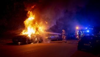 Bilbrand på Vallgatan