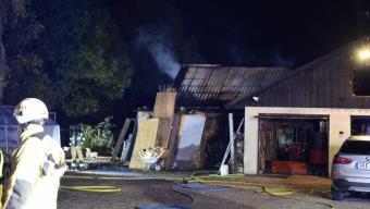 Brand i garage på Rönneberga backe