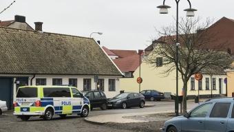Polisen letade spår på Plorren