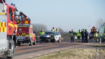 Två till sjukhus efter trafikolycka utanför Svalöv