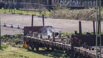 Brand på godsvagn