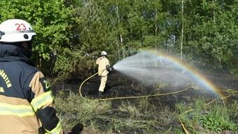 Gräsbrand vid bangården