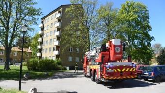 Lägenhetsbrand på Sandvången