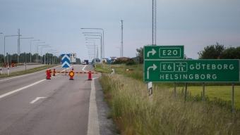 Motorvägen avstängd under natten