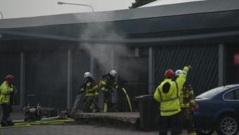 Brand på loppis i industriområdet