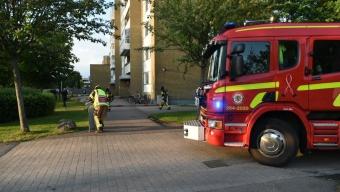 Köksbrand i lägenhet på Koppargården