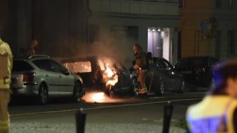 Bilbrand i centrum