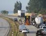 E6: Personbil och lastbil kolliderade vi Landskrona Södra