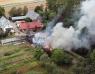 Kraftig brand i växthus utanför Helsingborg