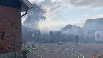 Garagebrand utanför Kingelstad