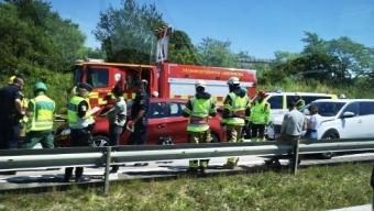 E6: Tre bilar inblandade i trafikolycka
