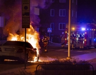 Bilbrand på Artillerigatan