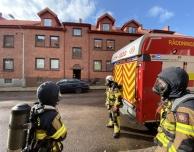 Larm om lägenhetsbrand