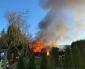 Brand i kolonistuga på Kopprhögarnas koloniområde