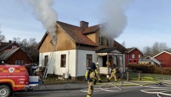 Villabrand i Röstånga