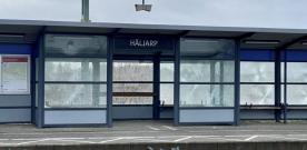 Skadegörelse på Häljarps station