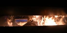 Brand i container i Häljarp