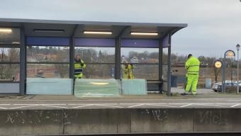 Nya rutor på Häljarps station