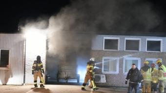 Brand på Plastgatan i Häljarp