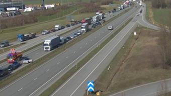 E6: dubbla trafikolyckor vid Landskrona Södra