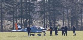 Sportflygplan nödlandade mellan Kågeröd och Billeholm