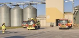 Brand i silo