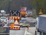 E6: Lastbil tappade slam över hela vägbanan