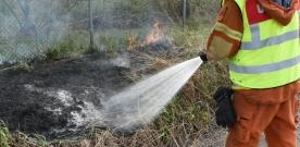 Gräsbrand i Asmundtorp