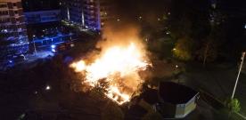 BILDSPECIAL: Brand på Slottscaféet