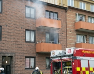 Köksbrand på S:t Olovsgatan