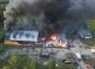 Kraftig brand i ridhus söder om Röstånga