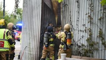 Brand i husfasad