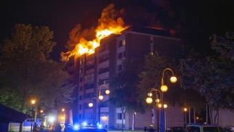 BILDSPECIAL: Vindsbrand på Koppargården