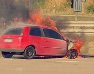 E6: Bilbrand på Milstolpen