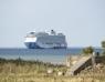 Två stora kryssningsfartyg i Lundåkrabukten