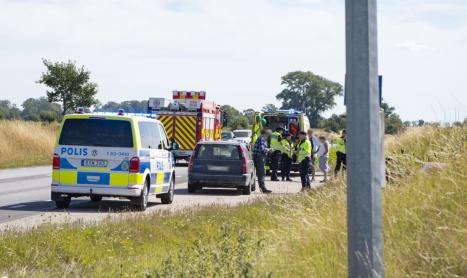 Trafikolycka på väg 17 – ingen skadad