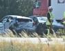 E6: Tre bilar i mitträcket vid Landskrona Södra
