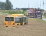 Regionbuss körde av vägen söder om Svalöv