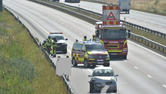 Dubbla olyckor norr om Landskrona