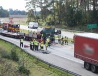 E6: Ung kvinna avled efter lastbilsolycka i höjd mer Saxtorpsskogen