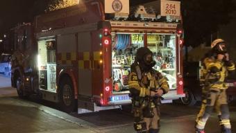 Brand i ugn orsakade pådrag