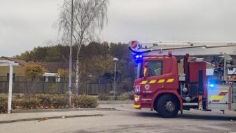 Misstänkt villabrand på Drottninggården