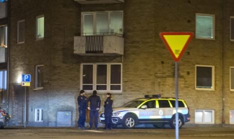 Polisinsats i centrala Landskrona