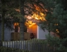 Kraftig villabrand i Saxtorpsskogen